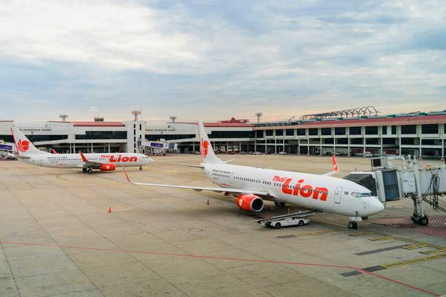 Don Mueang Airport is a low-cost hub and the main base of Nok Air, Thai Lion Air, Thai AirAsia X and Orient Thai Airlines.
